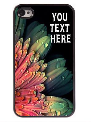 מקרה עיצוב מתכת פרח אלגנטי מקרה מותאם אישית עבור 4 / 4S iPhone
