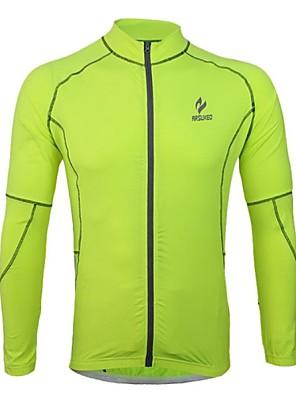 Arsuxeo® Camisa para Ciclismo Homens Manga Comprida Moto Respirável / Secagem Rápida / Design Anatômico / Tiras Refletoras
