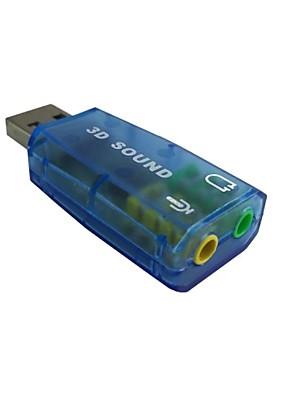 2.0 orador mic adaptador conversor de tomada de microfone headset áudio de 3,5 mm placa de som de alta qualidade usb
