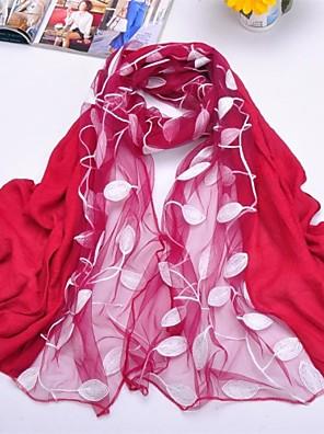 sjalar chiffong / polyester lämnar broderier halsdukar (fler färger)