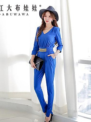 Pink Doll®Women's Casual Medium ½ Length Sleeve Jumpsuits