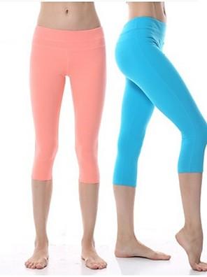 calças de yoga Cropped / Calças / 3/4 calças justas / Fundos Elástico em 4 modos / Sensação de Sustentação / Compressão por Partes Natural