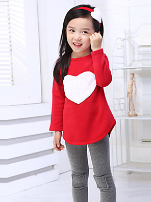 Girl's Summer/Spring/Fall Micro-elastic Medium Long Sleeve Clothing Sets (Cotton)