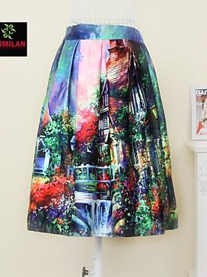 YIMILAN® Women's The 2015 European Fashion Print Skirt