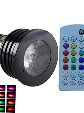 4W E14 / GU10 / B22 / E26/E27 Spot LED MR16 1PCS LED Haute Puissance 500 lm RGBGradable / Audio-activé / Commandée à Distance /
