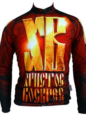 Getmoving® חולצת ג'רסי לרכיבה לגברים שרוול ארוך אופניים נושם / עיצוב אנטומי / נגד חרקים / לביש / כיס אחורי צמרות 100% פוליאסטר מכתב ומספר