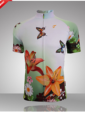 Getmoving® חולצת ג'רסי לרכיבה לנשים שרוול קצר אופנייםנושם / ייבוש מהיר / עיצוב אנטומי / עמיד אולטרה סגול / חדירות ללחות / רוכסן קדמי /