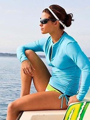 Mulheres Blusas / Roupas de Mergulho / Anti Atrito / Fatos de Banho / Macacão de Mergulho Longo Fato de MergulhoAlta Respirabilidade