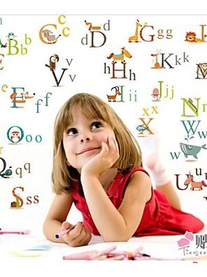 alfabet planteskole indretning wall stickers til børneværelset zooyoo877 dekorative aftagelig pvc væg decals