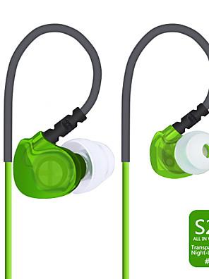 plextone s20 ® sweatproof / noite luminosa / fones de ouvido com fio fones de ouvido desportivos (no ouvido) com microfone para a música /