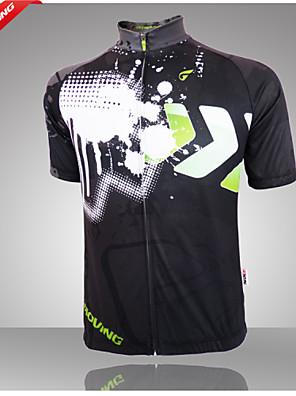 Getmoving® חולצת ג'רסי לרכיבה לגברים שרוול קצר אופנייםנושם / עיצוב אנטומי / עמיד אולטרה סגול / רוכסן קדמי / חדירות גבוהה לאוויר (מעל