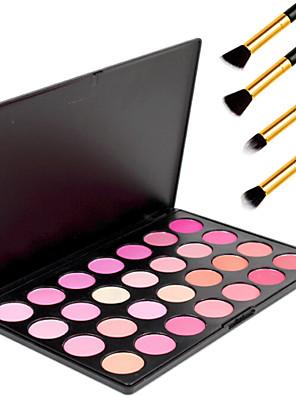 28 צבעי מברשת איפור עיפרון צבעים איפור יופי מקצועי סומק קוסמטי סומק אבקה + 4pcs