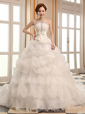 A-Linie Svatební šaty Super extra dlouhá vlečka Nabraný Organza s