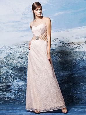 레이스와 TS couture® 공식적인 저녁 드레스 플러스 사이즈 / 아담 칼집 / 열 특종 바닥 길이 레이스