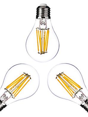 3 stuks ONDENN E26/E27 6W 6 COB 600 LM Warm wit G60 edison Vintage LED-gloeilampen AC 220-240 / AC 110-130 V