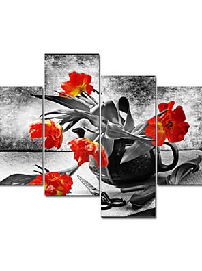 visual flor star®red pintura del arte de la lona moderna cuadro de la pared alta cantidad listo para colgar