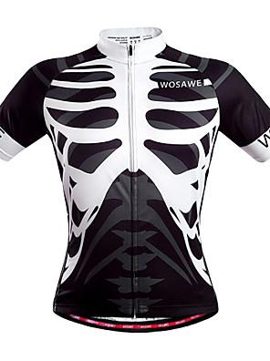 Wosawe® חולצת ג'רסי לרכיבה יוניסקס שרוול קצר אופניים נושם / ייבוש מהיר / כיס אחורי / תומך זיעה ג'רזי / צמרות פוליאסטר גוגולות קיץרכיבה על