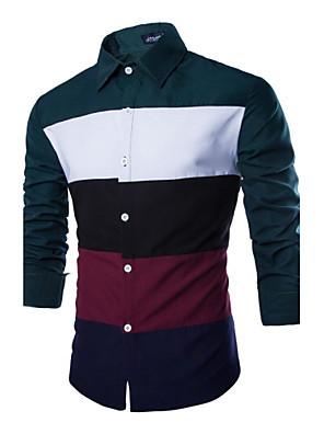 Ležérní Košilový límec - Dlouhé rukávy - MEN - Casual Shirts ( Bavlna/Polyester )