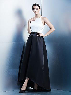 TS couture® 공식적인 저녁으로 온라인 보석 비대칭 새틴 드레스