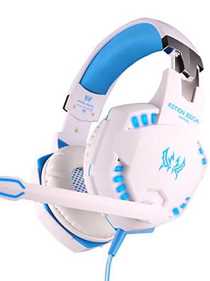 Každý g2100 sluchátka pevné 3,5mm nad herním ovladačem hlasitosti vibrace ucho s mikrofonem pro PC