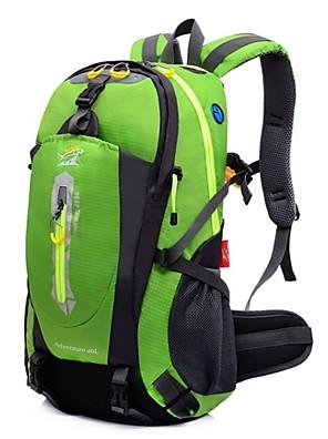40 L ערכות תיקי גב / תיקי גב לטיולי יום / רכיבה על אופניים תרמיל מחנאות וטיולים / טיפוס / ספורט פנאי / לטייל טבע עמיד למים / רב תכליתי