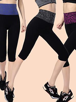 ריצה מכנסיים / 3/4 טייץ / מכנסי שלושה רבעים / תחתיות לנשים מפחית שפשופים ניילון / Chinlon יוגה / כושר גופני / מירוץ / ספורט פנאי / ריצה