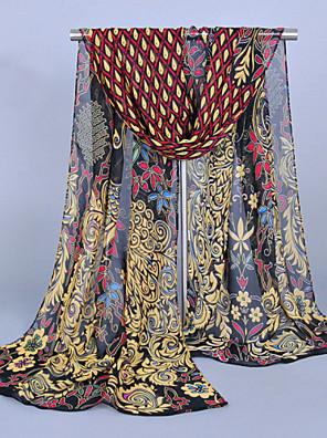 Žena Vintage / Party / Pracovní / Na běžné nošení Šifon Šátek