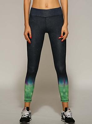 Yoga Pants Underdele / Bukser / Cykling Tights / Leggins Åndbart / Hurtigtørrende / wicking / Komprimering / letvægtsmateriale Naturlig