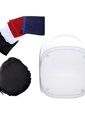 mini fotostudio softbox schieten tent softbox kubus doos, 60 x 60cm foto lichte tent + draagbare zak + 4 achtergronden