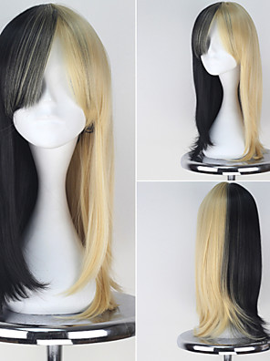 Golden Bomber Ameba Long Wavy Black and Yellow Color Anime Cosplay Full Wig