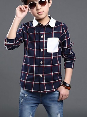 Boy's Cotton Shirt,All Seasons Check