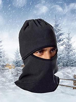 Máscara de Esquiar Máscaras de Esqui Moto Respirável / Mantenha Quente / A Prova de Vento / Á Prova-de-Pó Mulheres / Homens Preto Tosão