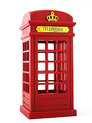 abs retro telefonní budka vedl tvůrčí osobnost malé noční světlo dotek stmívače nabíjení malému stolní lampa 10 * 22cm 220V