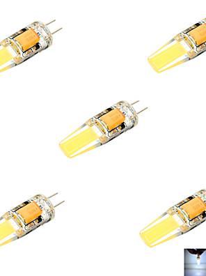ywxlight® 5 stuks g4 6 w 2 cob 600 lm warm wit / koel wit MR11 decoratieve bi-pin lampjes (AC / DC 10-14v)