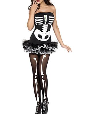 Klobouky Angel & Devil Festival/Svátek Halloweenské kostýmy Bílá - černá Šaty Halloween / Karneval Dámské Terylen / Lycra a elastan