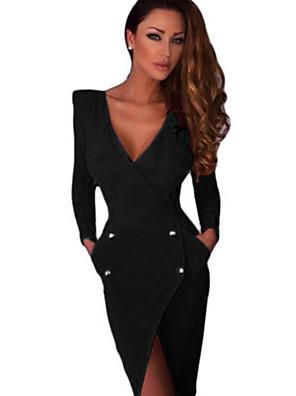 שמלה - א-סימטרי - פוליאסטר / אחרים - צינור (צמוד לגוף) - לא כולל חגורה