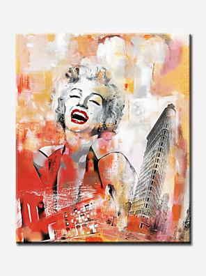 Astratto / Ritratti / Riproduzione / Romantico / Pop art Print Canvas Un pannello Pronto da appendere , Quadrato