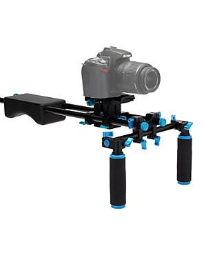 yelangu® מובנה סגסוגת אלומיניום פלס, כתף גומי DSLR אסדות מייצב וידאו למצלמות DSLR