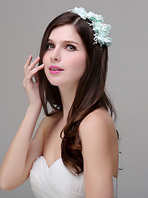 Women's Polyester / Acrylic / Plastic Headpiece-Wedding / Special Occasion / Casual / Outdoor Flowers 1 Piece