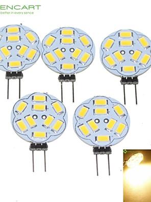 5W G4 LED-spotlampen MR11 9 SMD 5730 360-450 lm Warm wit Dimbaar DC 12 / AC 12 V 5 stuks