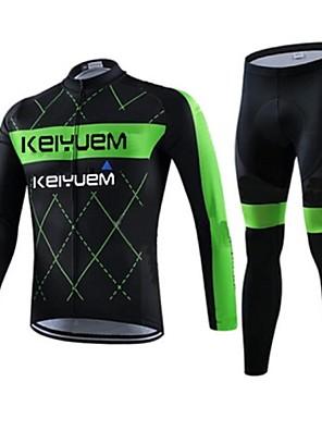 KEIYUEM® Calça com Camisa para Ciclismo Unissexo Manga Comprida MotoImpermeável / Respirável / Secagem Rápida / A Prova de Vento /