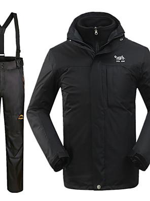 לגברים ז'קטים לחורף / מדים בסטים סקי עמיד למים / שמור על חום הגוף / עמיד חורף שחורS / M / L / XL / XXL