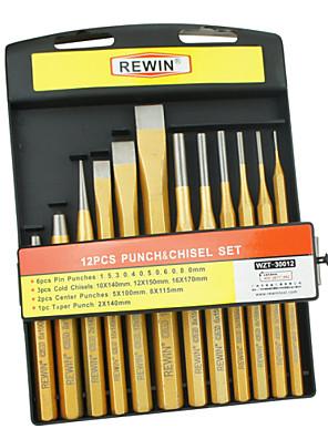 rewin® eszköz 12db bélyeget és véső készlet CR-V-anyag