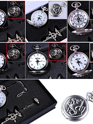 Hodiny / hodinky Inspirovaný Fullmetal Alchemist Edward Elric Anime Cosplay Doplňky Náhrdelníky / Hodiny / hodinky / kroužekCzarny /