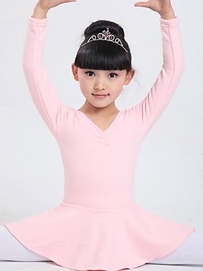בלט שמלות בגדי ריקוד ילדים ביצועים כותנה קשת (תות) / שכבות חלק 1 שרוול ארוך טבעי שמלות