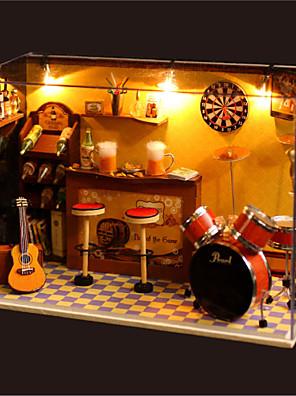 romantický dárek k narozeninám dárek manuální hudba prach kryt modelu kutilství dřevo domeček pro panenky včetně všech nábytek Světla