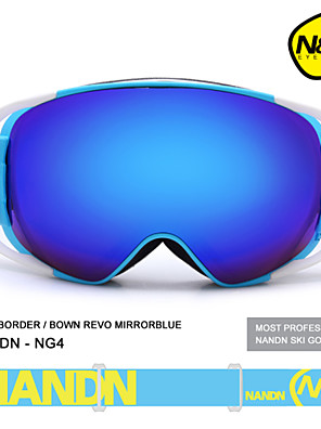 NANDN Big Spherical Men Women Snowboard Sports REVO Ski Goggles Double Lens Anti-fog Snow Goggles Ski Glasses NG4