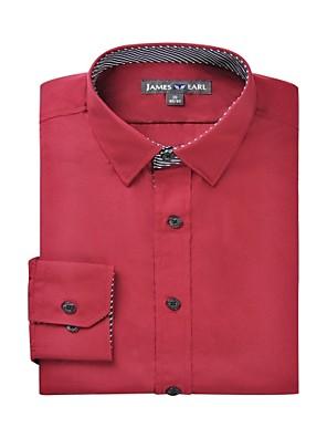 JamesEarl Herre Krave Langt Ærme Shirt & bluse Burgundy - DA112045383