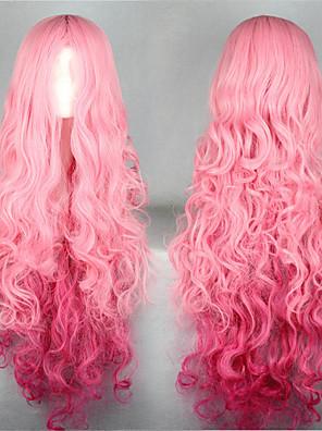 Lolita Wigs Sweet Lolita Lolita Extra dlouhý Růžová Lolita Paruky 100 CM Cosplay Paruky Jednobarevné Paruka Pro Dámské