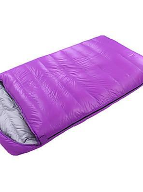 Saco de dormir Largura Dupla Casal (L200 cm x C200 cm) -10℃ Penas de Pato 1800g 210X120 Interior Mantenha Quente / Oversized CAMEL